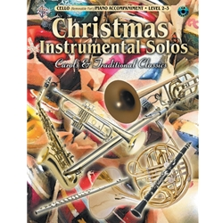 Christmas Instrumental Solos for Cello (Level 2-3)